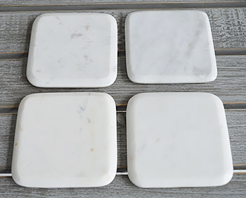 Grey and white marble coasters