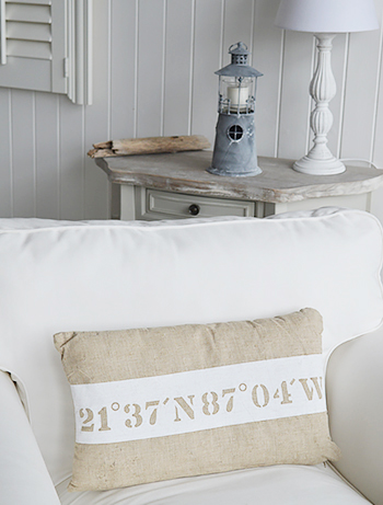 The White Lighthouse Candle Holder - home decor and furniture for the New England and coastal  styled bedroom, hallway, living room and bathroom