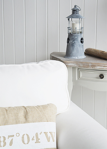 Candle Holder for nautical interiors Lighthouse from The White Lighthouse Furniture for Hallway, Living Room, Bathroom and Bedroom
