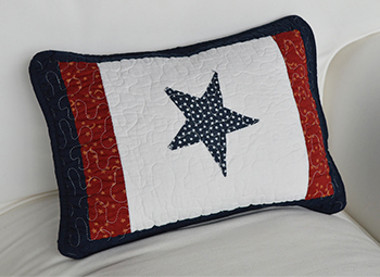 Nautical cushion with stars