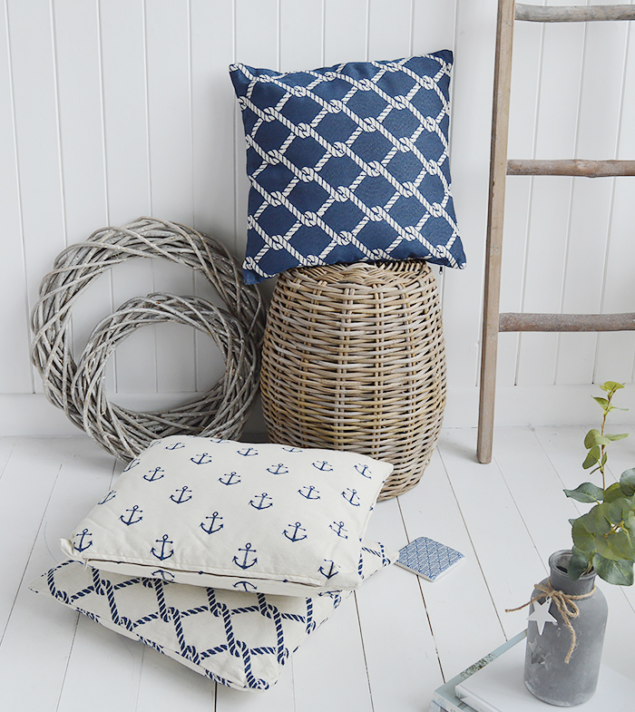The White Lighthouse new England Home Interiors and Furniture - Coastal Cushions