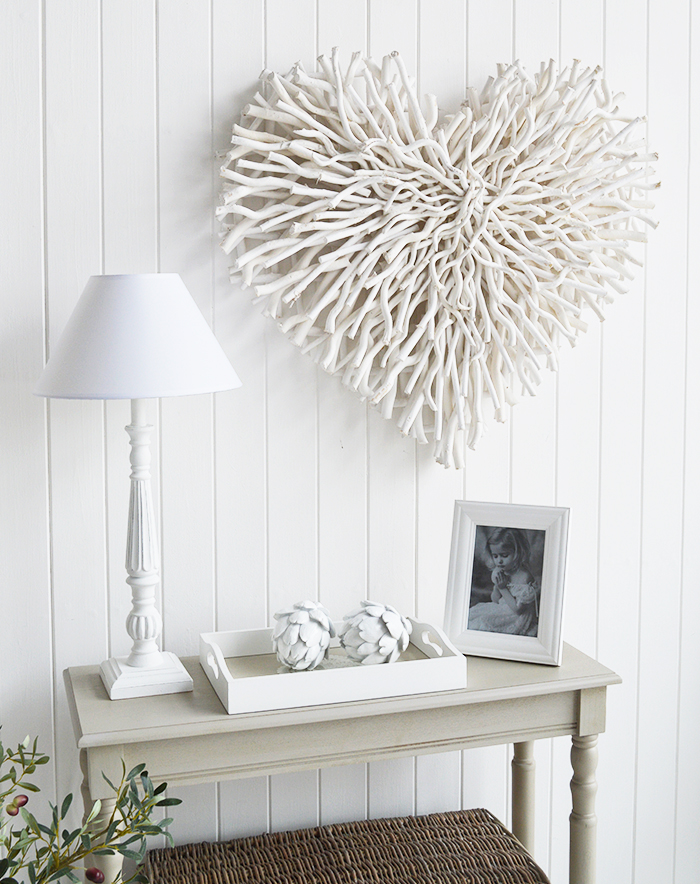 Large white twig chunky heart