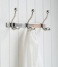 Kensington polished metal tripl hokks for coat rack or clothes