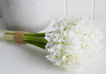 Bunch of artificial White Hyacinths