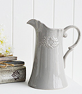 Grey ceramic jug vase