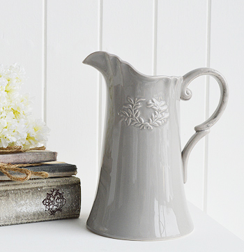 Ceramic Grey Jug Vase Pitcher The White Lighthouse