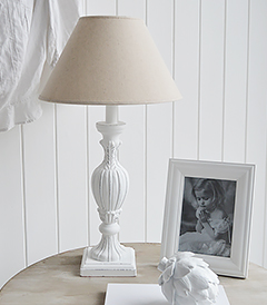 Boothbay white table lamp from The White Lighthouse Furniture and home decor