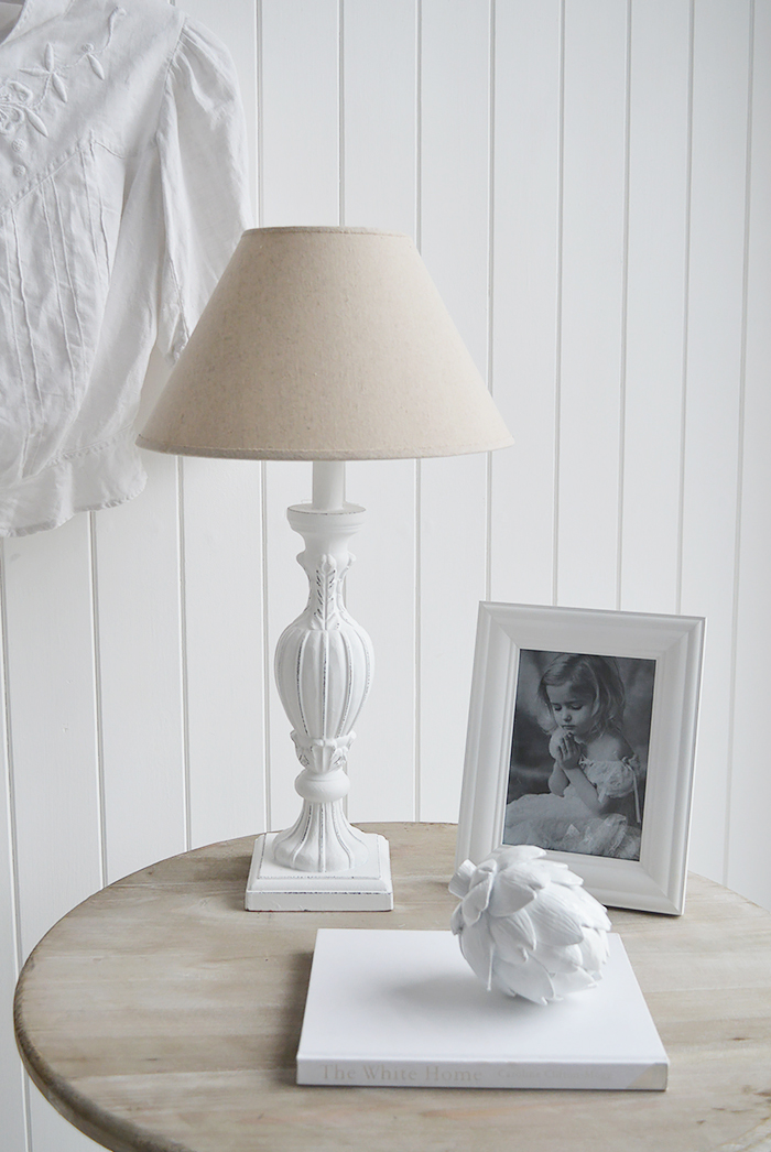 Boothbay White Table Lamp