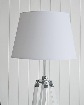 White Wooden Lexington Floor Lamp New England Furniture