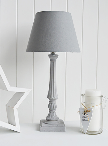 Grey Table Lamp The White Lighthouse