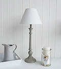 Brooklyn white adjustable bedside table lamp