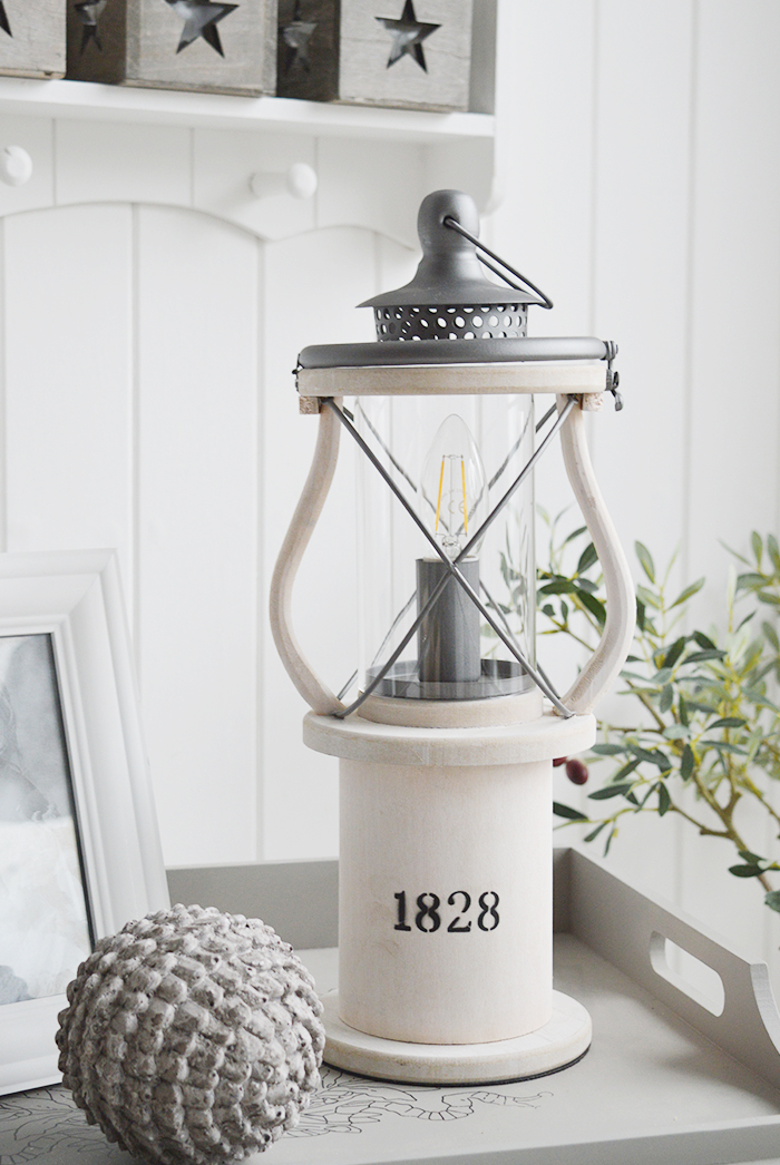Picture of: New England Style Lamps Coastal White Table Lamp