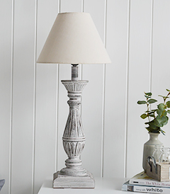 Lyon rustic pink and grey table lamp