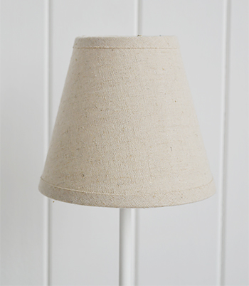 White Bedside table lamp
