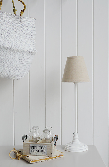 Small White Bedside Table Lamp