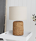 Coastal table lamp for New England Bedrooms and Living rooms