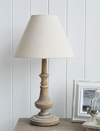 A table lamp for country cottage interiors