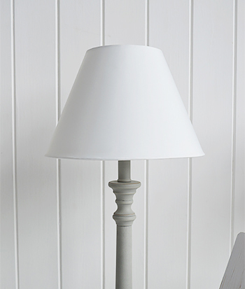 White and grey table lamp
