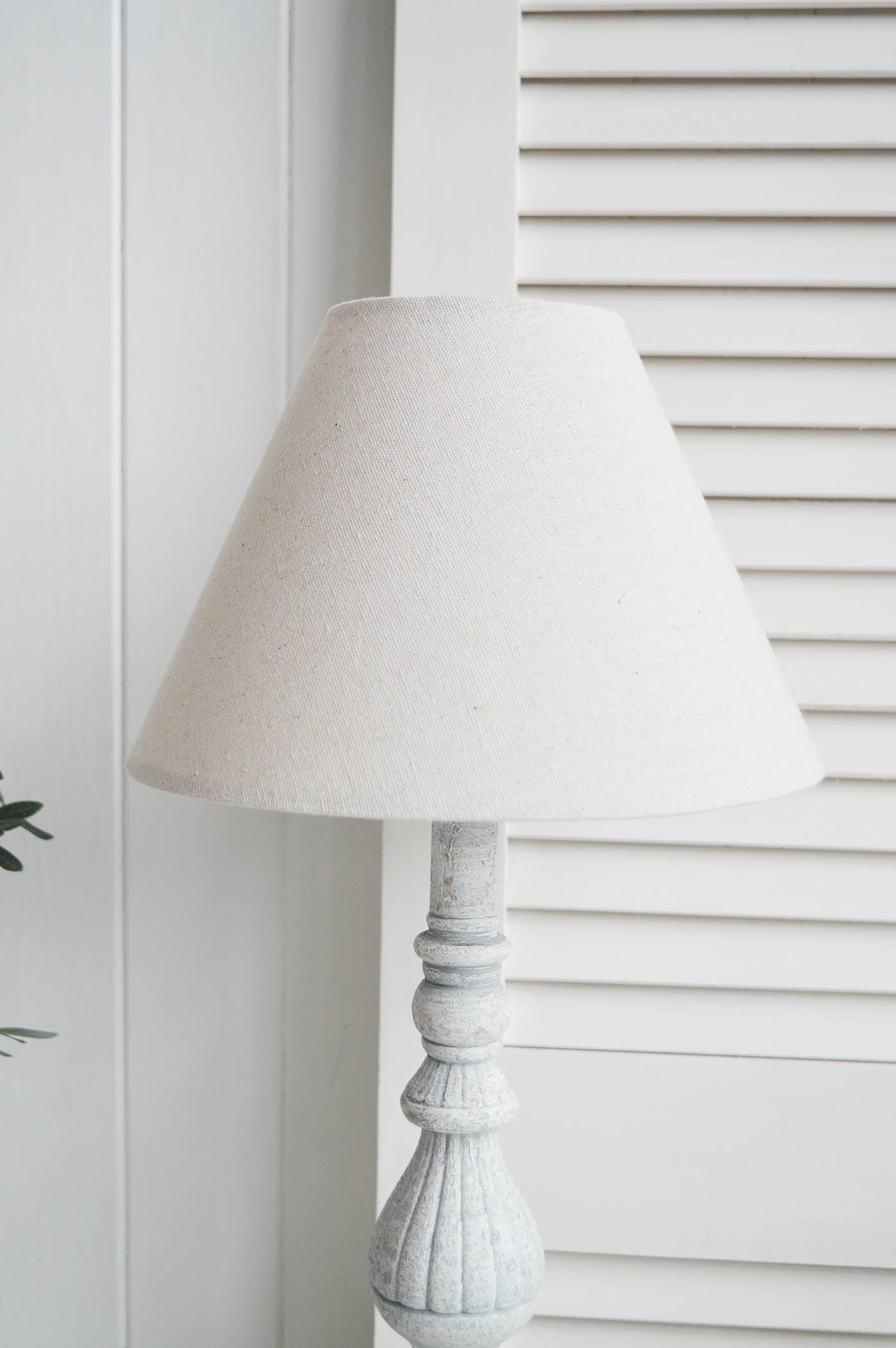 La Maison rustic grey table lamp with linen shade
