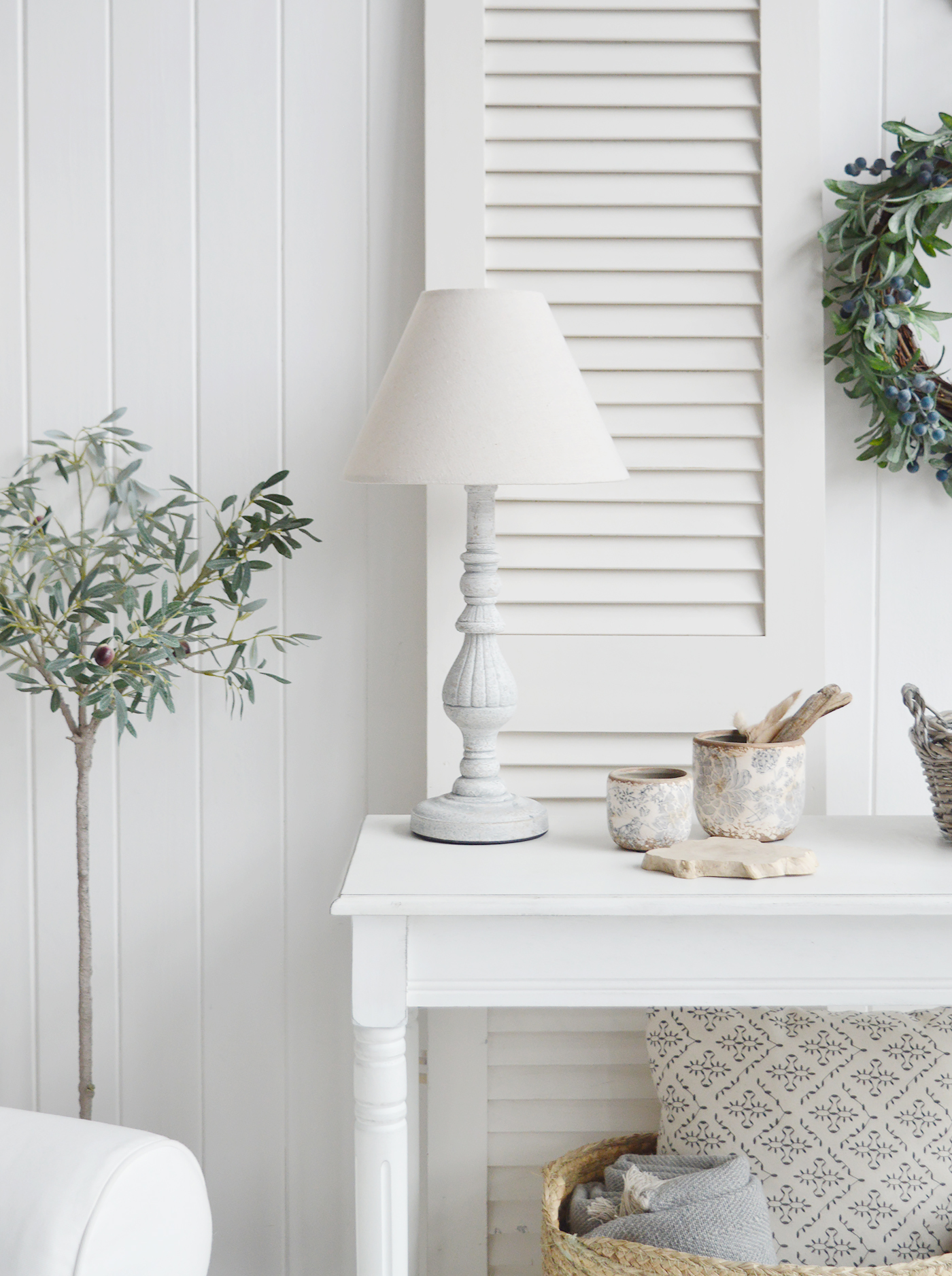 La Maison rustic grey table lamp for interiors