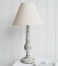 La Maison Grey rustic table lamp