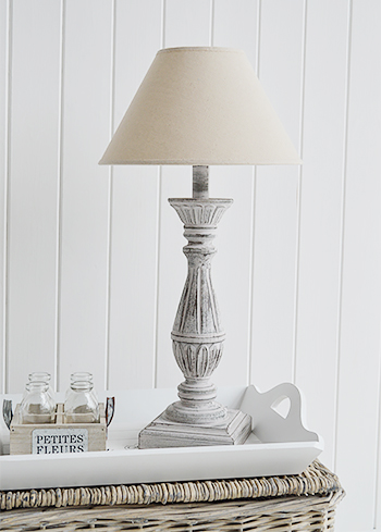 Lyon rustis pink and grey table lamp