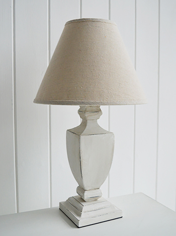 Providence antique white bedside table lamp for french bedroom interiors
