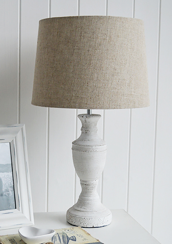 Rockport Table Lamp from The White Lighthouse Bedroom  Furniture