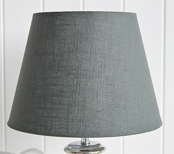 Kensington silver and grey table lamp