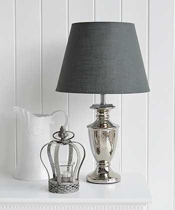 Kensington silver table lamp