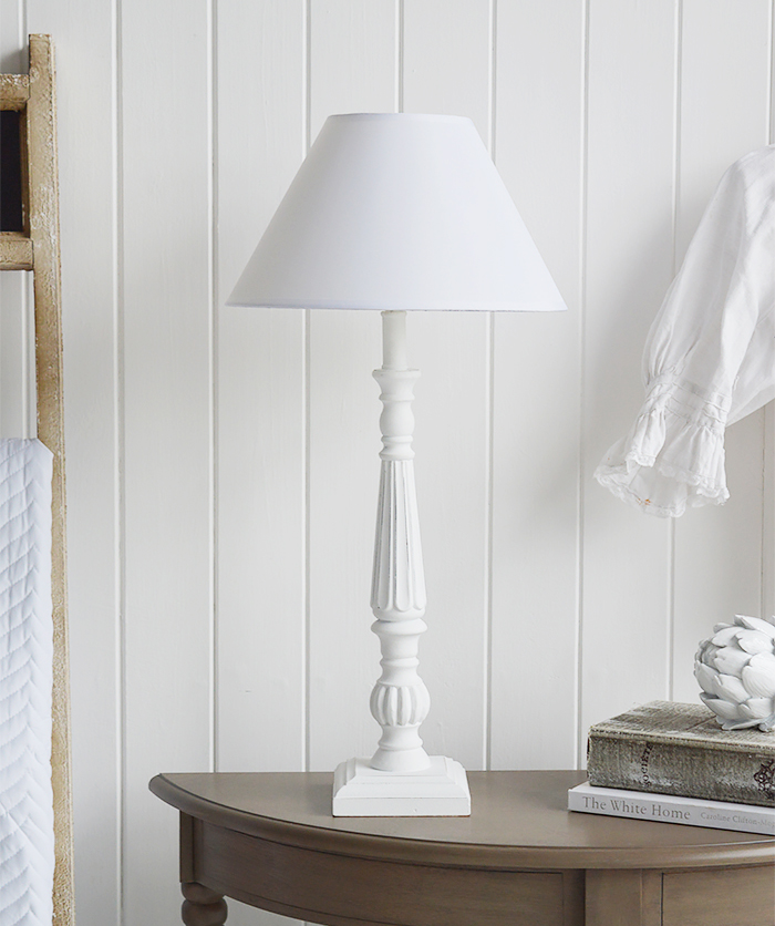 The White Lighthouse Furniture Lamps Tall White Table Lamp