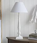Table lamp from The White Lighthouse to complement both white furniture and New England country and coastal interior designs