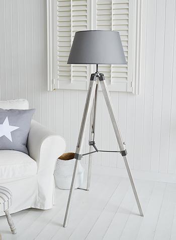 Grey Lexington Floor Lamp New England Furniture And