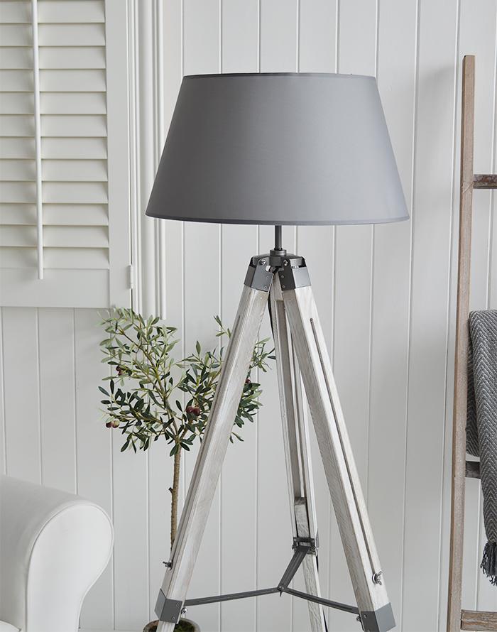 Grey and chrome Lexington floor lamp