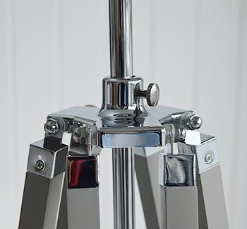 Grey Lexington floor lamp with chrome