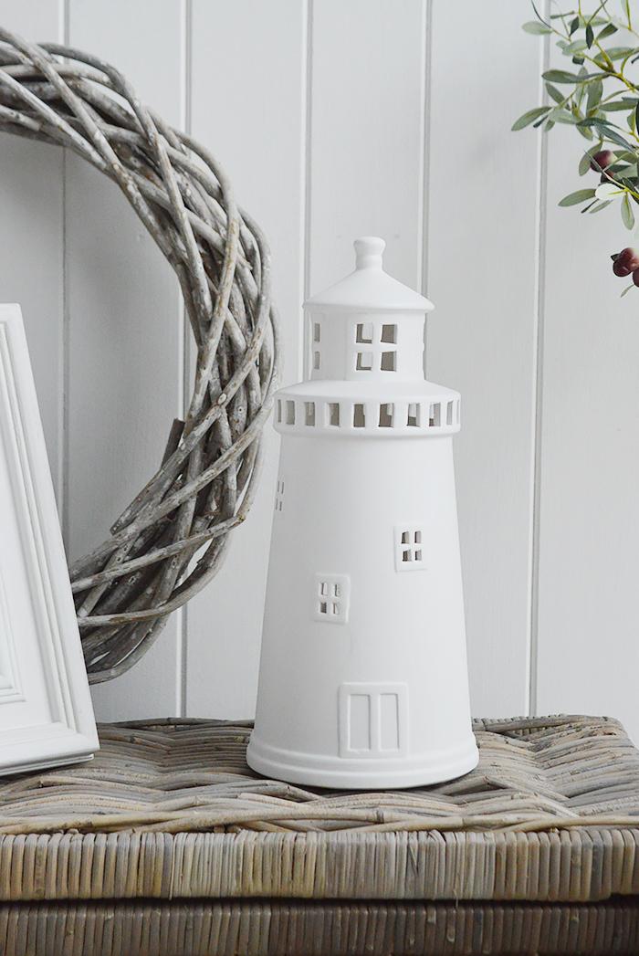 Ceramic White Lighthouse Table Lamp