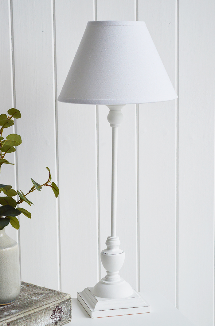 Freeport white bedside table lamp for white bedroom furniture