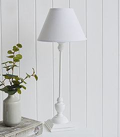 Freeport white bedside table lamp