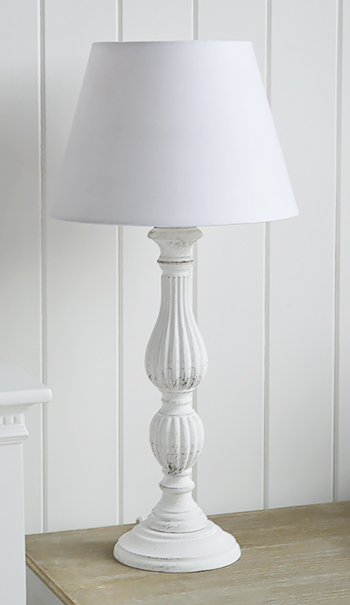 White Wooden Table Lamp The White Lighthouse