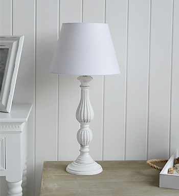 white wooden table lamp the white lighthouse. Black Bedroom Furniture Sets. Home Design Ideas
