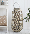 Tall Grey willow rustc lanterns for country and coastal interior design