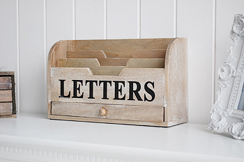 tidy your worktop with the letter holder with drawer