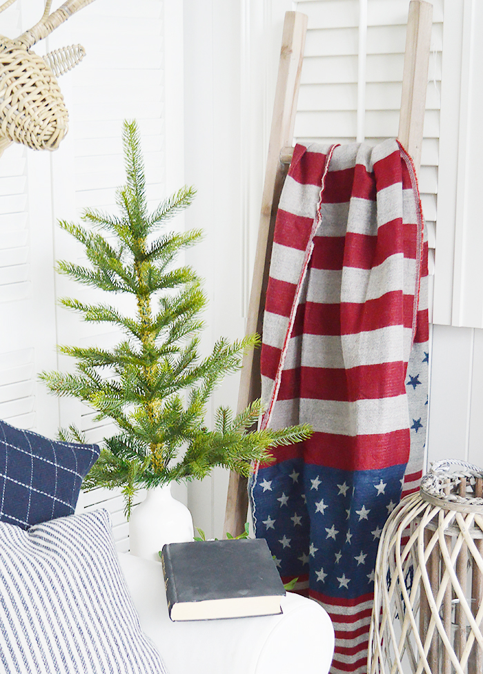 New England Lifestyle - Stars and stripes throw or scarf