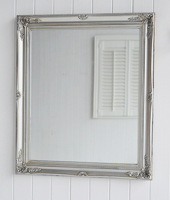 Decorative mirrors large wall mirrors round mirror large for Large silver wall mirror