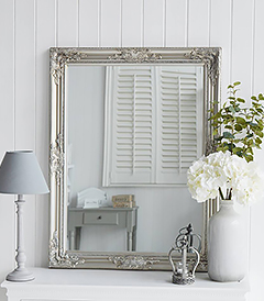 Large silver wall mirror