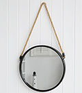 Round Porthole mirror. Add interest with coastal home decor accessories