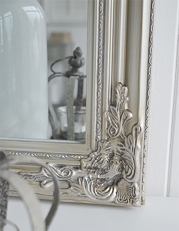 Large Silver Wall Mirror Over Mantel Dressing Table Or Hall