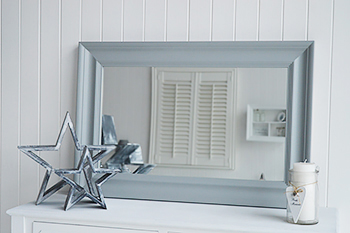 Large Grey Wall Mirror Landscape And Portrait