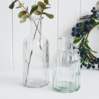 Our minimalist Newbury glass bud jar. Perfect for seasonal stems or our artificial Pussy Willow, Eucalyptus or Olive tree sprigs