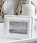 White wooden photoframe for 5x7 photograph